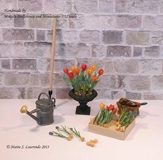Hey, I found this really awesome Etsy listing at https://www.etsy.com/listing/125982161/dollhouse-miniature-flowers-tulips-and