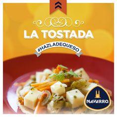 ¡El pequeño gran toque! Agrega Queso Adobera NAVARRO a tu tostada favorita y conviértela en un platillo único.