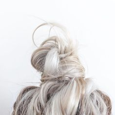 Why can I never make a bun this cute. I ALWAYS get the stick ups!