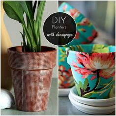 DIY Home: 6 great ideas for planters (decoupage) | We Heart Home