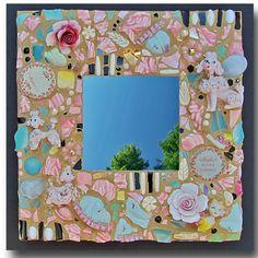 Poodle Mosaic Mirror