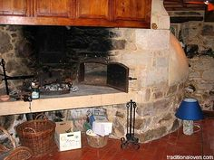 Indoor Pizza Oven Fireplace Combination   Indoor wood fired oven and fireplace.