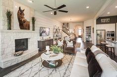 Huntington Homes Craig Ranch Living Room Mckinney