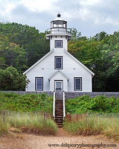 Old Mission Lighthouse, Grand Traverse Bay of Lake Michigan Traverse City Michigan, Michigan Travel, Lake Michigan, Western Michigan, Michigan Usa, Grand Haven, Lake Huron, Northern Michigan, Great Lakes