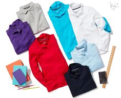 Vibrant colors in comfy long sleeve styles.