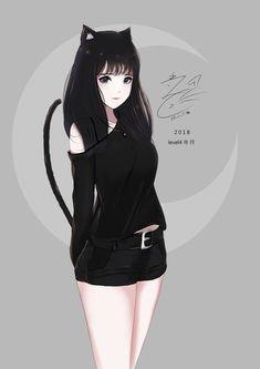 Gostou? Salva e me segue (GabrielaTav) <3 #ArteGirls #Anime Anime Neko, Kawaii Anime Girl, Chica Gato Neko Anime, Emo Anime Girl, Pretty Anime Girl, Beautiful Anime Girl, Manga Anime, Gothic Anime, Dark Anime