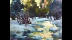 Winter Landscape Pastels by Karen Margulis