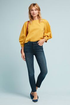 MOTHER The High-Waisted Looker Skinny Ankle Jeans beb9afd10c307
