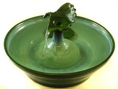 Cat Fountain Ginko by ThirstyCatFountains on Etsy