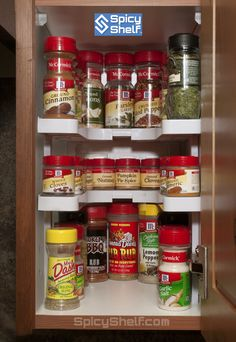 Spicy Shelf even adjust smaller to fit tiny cabinets. Great small kitchen storage solution for your spices. Better then the average spice rack.