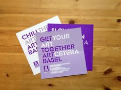ARTcetera Basel Invitations by Benjamin Spear, via Behance