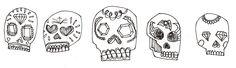 Dia de muertos skulls