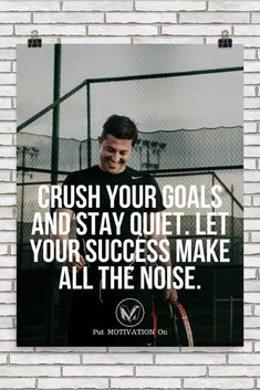 CRUSH YOUR GOALS | Poster – PutMotivationOn Follow all our motivational and inspirational quotes. Follow the link to Get our Motivational and Inspirational Apparel and Home Décor. #quote #quotes #qotd #quoteoftheday #motivation #inspiredaily #inspiration #entrepreneurship #goals #dreams #hustle #grind #successquotes #businessquotes #lifestyle #success #fitness #businessman #businessWoman #Inspirational