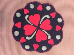 Hearts of penny rug pattern by redmaplewoolens on Etsy