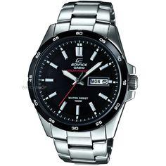 Mens Casio Edifice Solar Powered Watch EFR-100SB-1AVEF