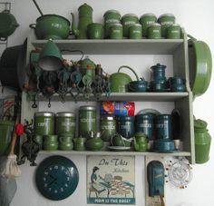 keukenkast in de waskrijt met emaille Cornelia