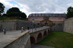 Peterstor mit Kommandantenhaus der Zitadelle Petersberg in Erfurt