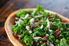Recipe: Kale Salad with Cherries and Pecans Recipe