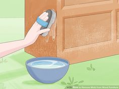 Mold Remover On Wood, Mold And Mildew Remover, Cleaning Mold, Cleaning Hacks, Cleaning Supplies, Cleaning Wood Furniture, Wooden Furniture, Removing Mold From Wood, Remove Mold