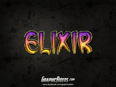 GraphicRiders | Fantasy Style – Elixir (free photoshop layer style, text effect)  #graphicriders