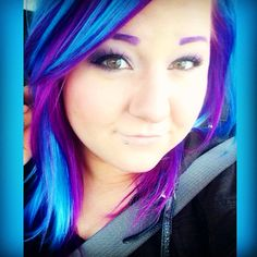 Purple and blue hair  Ion Color Brilliance Brights Semi-Permanent Hair Color   http://www.sallybeauty.com/on/demandware.store/Sites-SA-Site/default/mProduct-Show?pid=SBS-305079