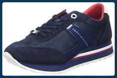 Tommy Hilfiger Damen A1285NGEL 1C1 Sneaker, Blau (Tommy Navy 406), 39 EU - Sneakers für frauen (*Partner-Link)