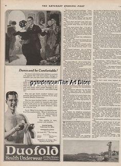 1921 Duofold Health Underwear Co Dance Mens Vintage 1920s Fashion Ad