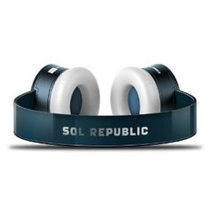 SOL REPUBLIC HEADPHONES ULTRA TRACKS HD V12 IN DARK BLUE