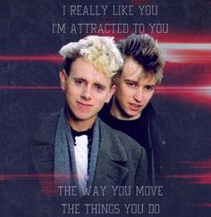 LOL! Martin Gore and Alan Wilder of Depeche Mode