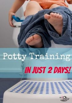 Potty training for a toddler! I potty trained my 3-year old this way! This potty training method really works!