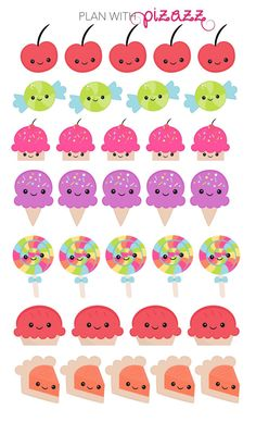 KAWAII SWEET themed Stickers Perfect for Erin by PlanwithPizazz