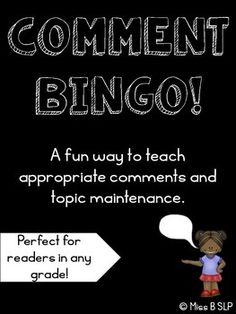 Free! Comment Bingo! appropriate comments/topic maintenance