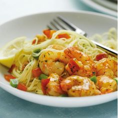 Angel Hair Pasta with Shrimp and Peppers