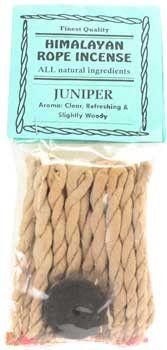 Juniper Himalayan rope incense 20 ropes