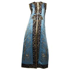 Antique Chines Vest Embroidered with Gold Threads | From a collection of rare vintage evening dresses and gowns at https://www.1stdibs.com/fashion/clothing/evening-dresses/