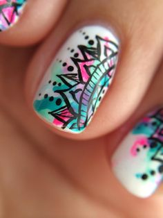 This nail art you can do at home or go to a nails shop