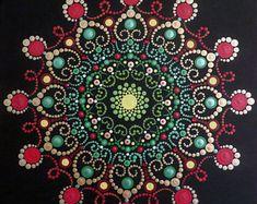 12 x 12 in Mandala schilderen op doek