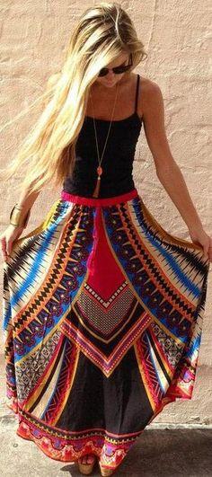 Bohemian skirt.