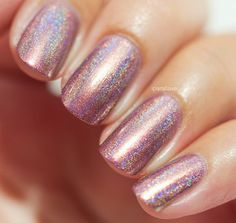 Champagne Blush Rose Gold / Vintage Pink Holographic by ILoveNP