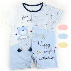 $7.70 New Cute Infant Baby Jumpers Cloths 6-12 Month Romper Baby Sleep Suit 3 Colors