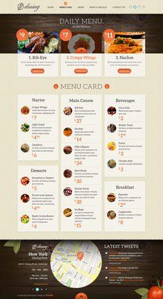 Dining Restaurant Psd Template   Psd Web Templates   Pixeden