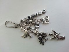 Personalised charm key chain
