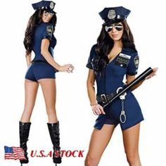 2018 Gatton Women Police Officer Cop Adult Cosplay Halloween Costume Complete Outfit and more Women's Halloween Costumes for Holiday Costumes, Holiday Party Dresses, Sexy Halloween Costumes, Cool Costumes, Adult Costumes, Costumes For Women, Cosplay Costumes, Women Halloween, Halloween Christmas