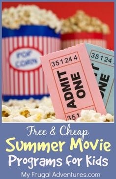 Free & Cheap Summer Movie Programs for Children