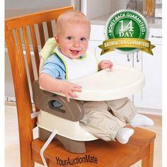 Infant Folding Booster Seat Tan Adj Portable Kids Table Eating HighChair Toddler #SummerInfant