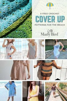 Get ready for the beach with these 8 free crochet patterns for DIY summer fashion! Grab your hook and start on one of these cover-ups today! Crochet Christmas Stocking Pattern, Halloween Crochet Patterns, Easter Crochet Patterns, Crochet Cover Up, Knit Or Crochet, Free Crochet, Beach Coverup Pattern, Beach Crochet, Summer Fashion For Teens