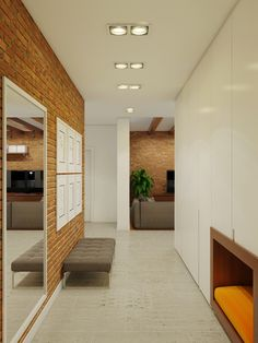 3 locuinte uimitoare cu pereti interiori din caramida