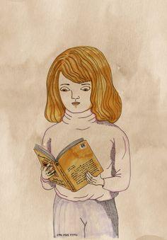 Paula Sosa Holt, illustration, drawing, dibujo, cómic, comics, reading, book