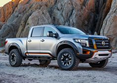 The upcoming 2019 Nissan Titan Warrior is a perfect example how daring and aggressive one pickup can become. With an intent to boost Titan XD model, Nissan introduced Warrior Concept in 2016 at the North American International Auto Show in Detroit. Nissan Np300, 2017 Nissan Titan, Nissan Trucks, Suv Trucks, Cool Trucks, Pickup Trucks, Nissan Navara, Suv Cars, Diesel Trucks
