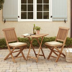 Found it at Wayfair - Sunny Isles Square Brazilian Eucalyptus 3 Piece Bistro Set Patio Dining, Outdoor Dining, Outdoor Decor, Ikea Outdoor, Wood Patio, Outdoor Tables, Dinning Table, Outdoor Ideas, Indoor Outdoor